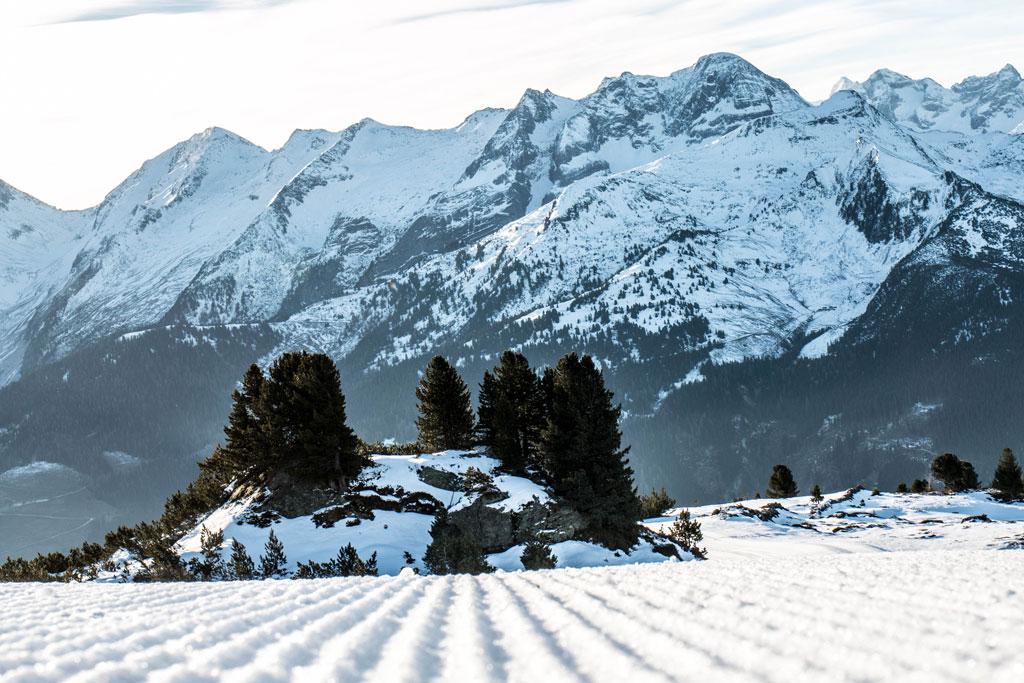 Piste in een skigebied