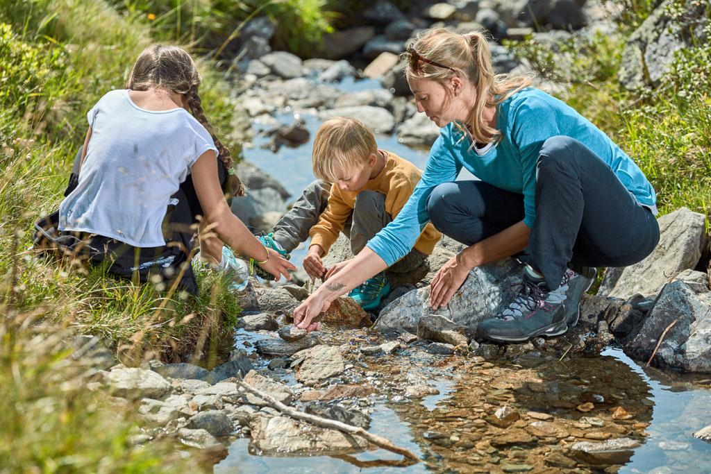 Spielen am Fluss rund um Kappl