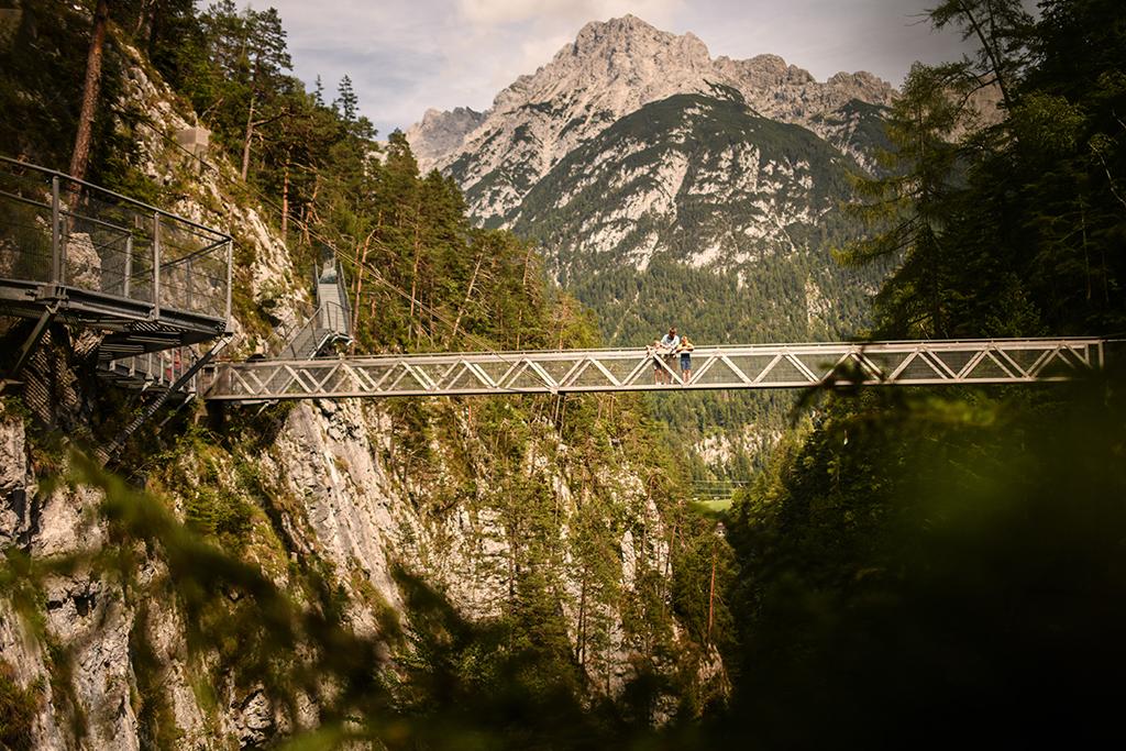 Leutaschklamm Berge Brücke
