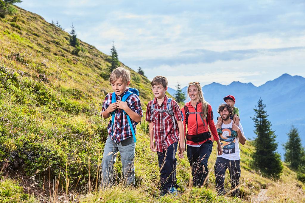 Wandern mit Kindern in Kappl