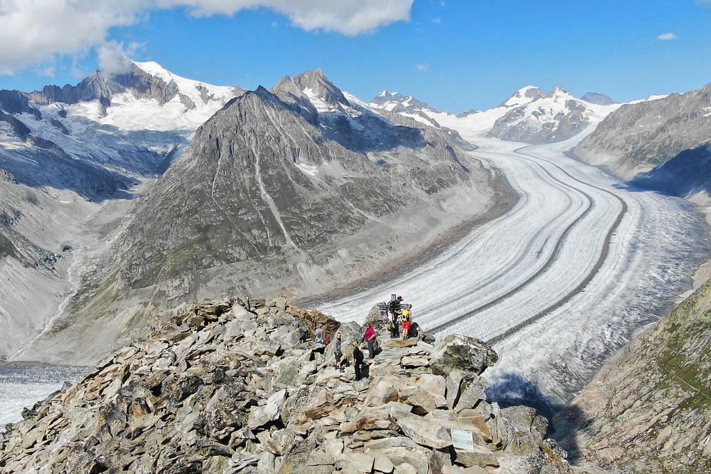 Aussicht Aletschgletscher
