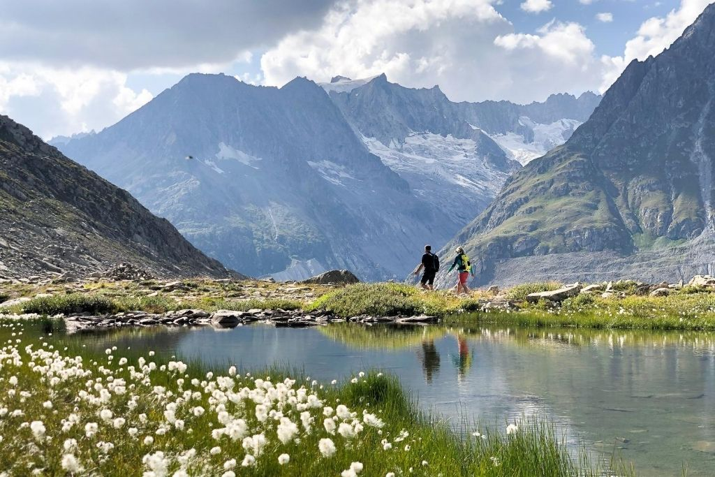 Menschen und Berge fotografieren