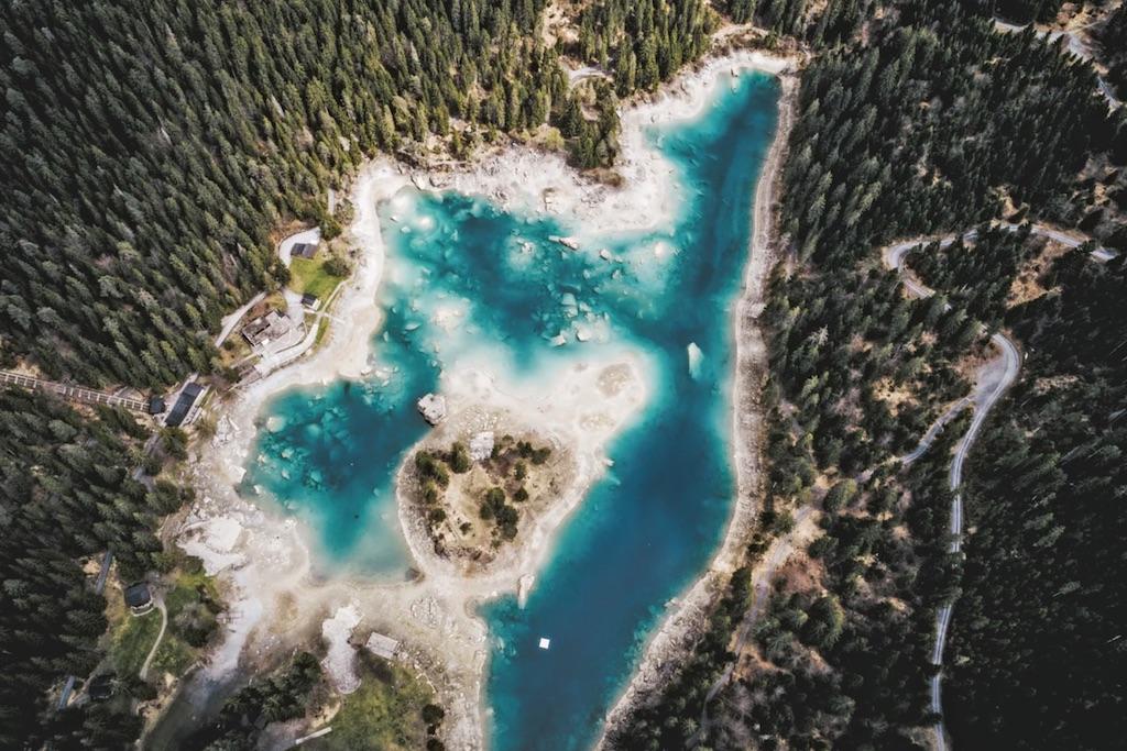 Caumasee in Zwitserland