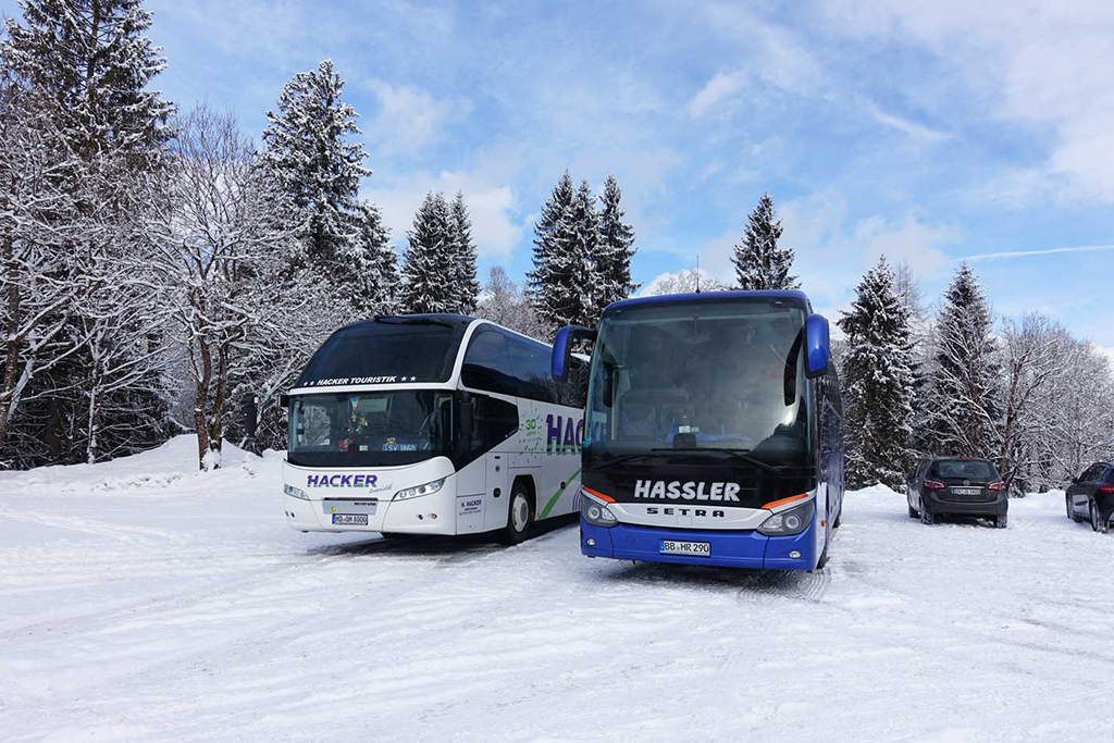 bus naar wintersport
