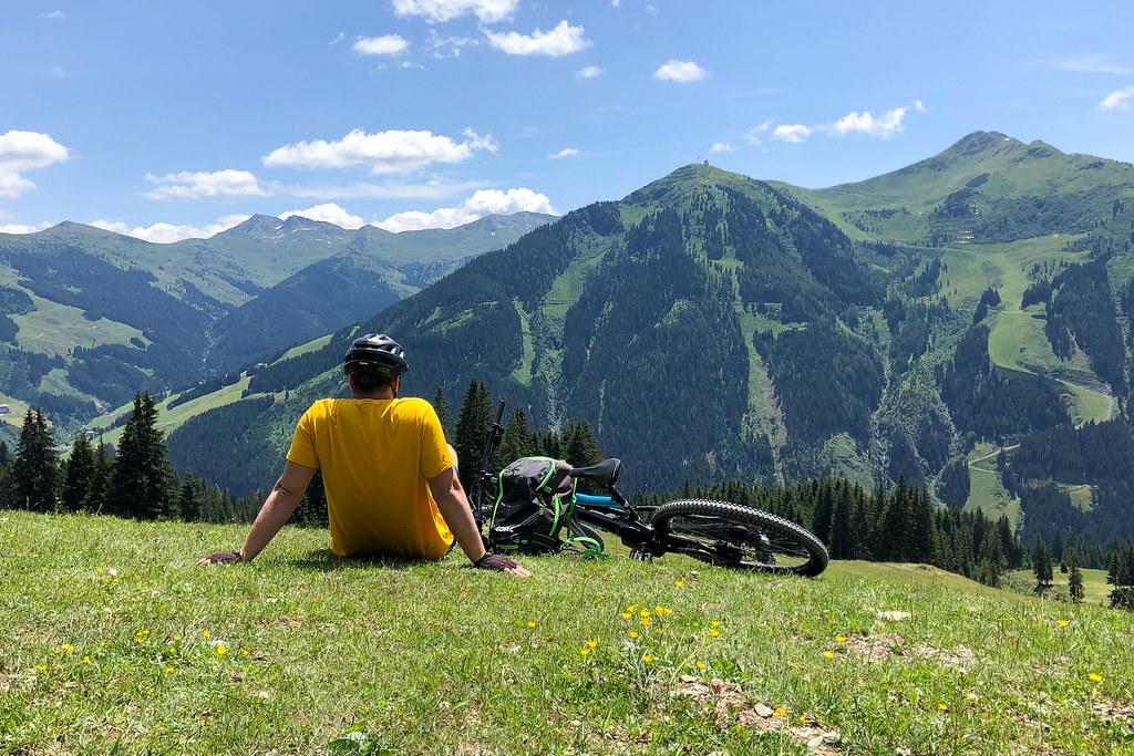 Radfahrer in Saalbach