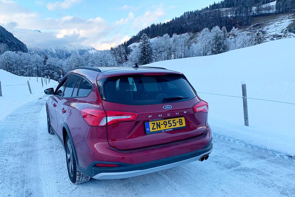 auto naar wintersport