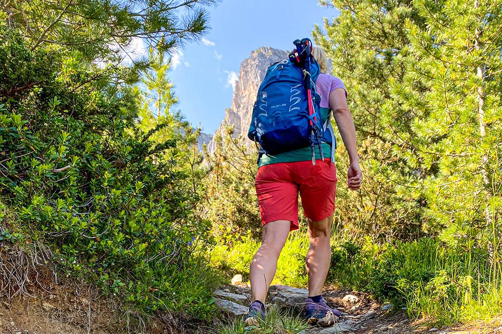 Gipfelwanderung am besten mit Wanderstöcken