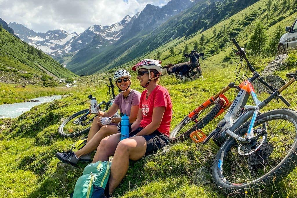Biken zur Larein Alpe
