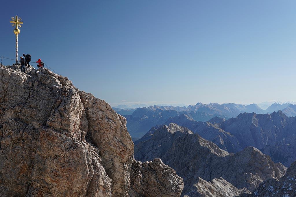 Ausblick Zugspitze Bayerische Alpen