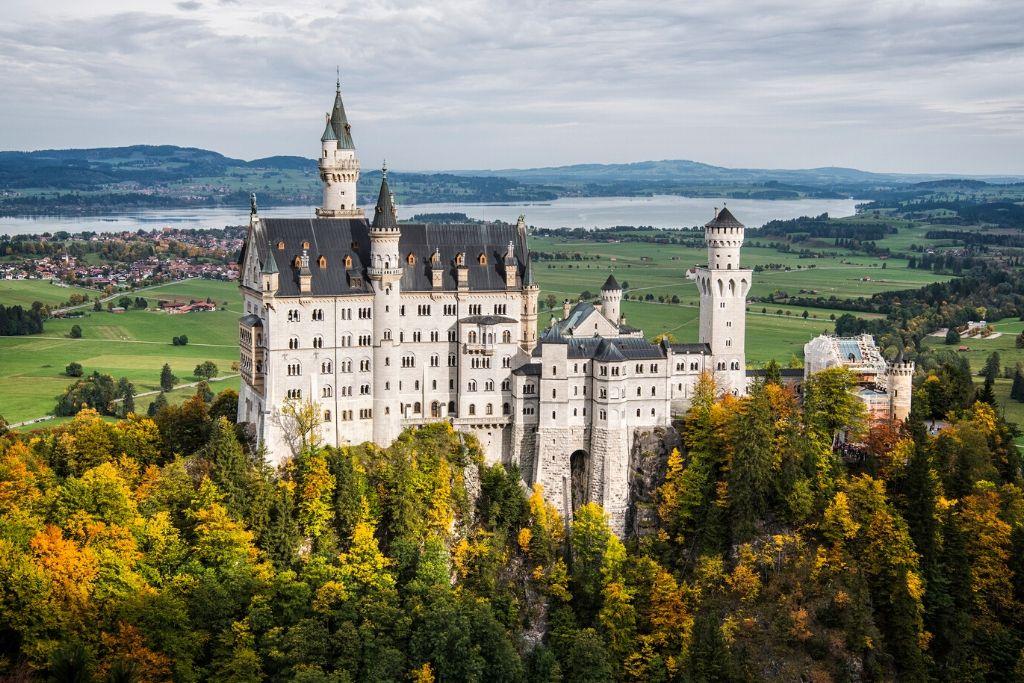 Schloss Neuschwanstein in Südbayern