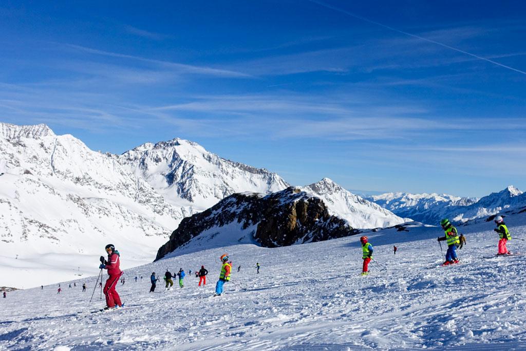 Skiën met skileraar
